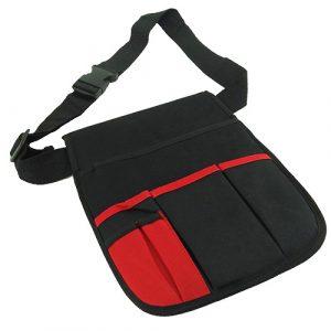 Bolsa herramientas Fabricado con nilon con gran espacio de almacenamiento. Cinturón ajustable con clip plástico. Reversible, protege tu trabajo de arañazos accidentales. Placa de metal interna para sujetar imánes.