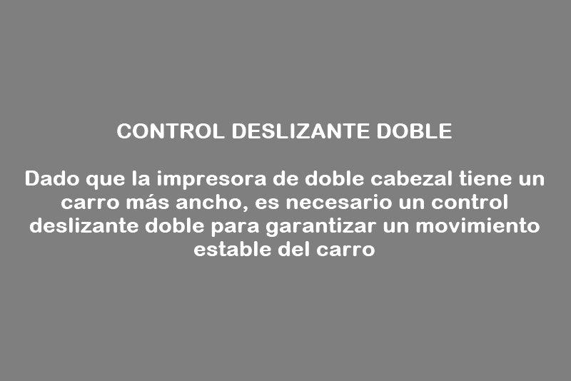 control deslizante doble
